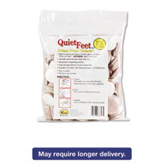 """Quiet Feet Deluxe Noise Reducers, 1 1/4"""" dia, Circular, Beige, 100/Pack"""