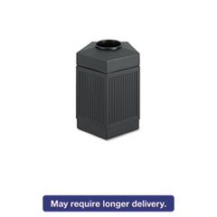 Canmeleon Indoor/Outdoor Receptacle, Pentagon, Polyethylene, 45gal, Black