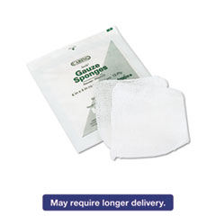 Caring Woven Gauze Sponges, 4 x 4, Sterile, 12-Ply, 1200/Carton