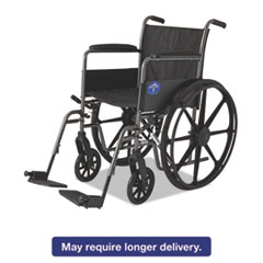 Excel K1 Basic Wheelchair, 18w x 16d, 300lb Cap