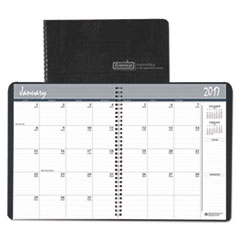 Recycled 24-Month Ruled Monthly Planner, 8 1/2 x 11, Black, 2017-2018