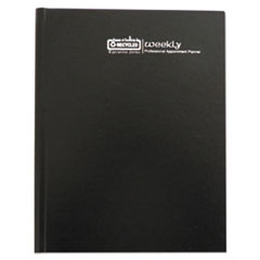 Recycled Professional Hardcover Weekly Planner, 8 1/2 x 11, Black, 2018