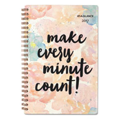 B-Positive Desk Week/Month Planner, Make Every Minute Count, 5 3/4 x 8 1/8, 2017