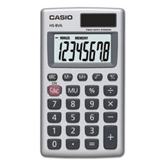 HS-8VA Handheld Calculator, 8-Digit LCD, Silver