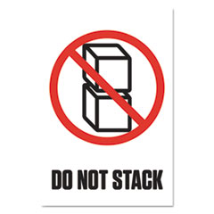 "Pre-Printed Shipping Labels, 4 x 6, ""DO NOT STACK"", 1000/Roll, 4 Rolls/Carton"