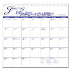 12-Month Illustrator's Edition Wall Calendar, 12 x 11 3/4, Illustrations, 2017