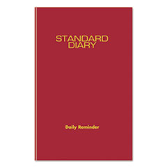 Standard Diary Recycled Daily Reminder, Red, 5 3/4 x 8 5/16, 2017
