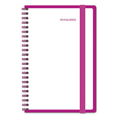 Color Play Weekly/Monthly Planner, 4 7/8 x 8, White/Purple, 2017