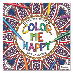 Color Me Happy Wall Calendar, 12 x 12, 2017
