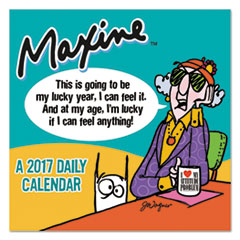 Maxine Box Calendar, 5 1/2 x 5 1/2, 2017