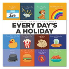 Every Days A Holiday Box Calendar, 5 1/2 x 5 1/2, 2017