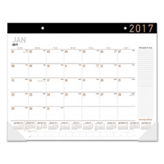 Contemporary Monthly Desk Pad, 21 3/4 x 17, 2018