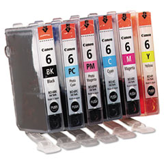 4705A018 (BCI-6) Ink, Assorted, 6PK
