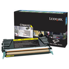 C746A1YG Toner, 7000 Page-Yield, Yellow