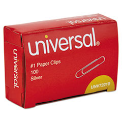 Paper Clips, Smooth Finish, No. 1, Silver, 1000/Pack