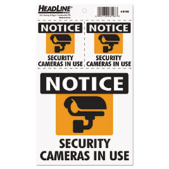 Self-Stick Security Camera Combo Decal, Security Cameras in Use, 2-3 x 3/1-6 x 6