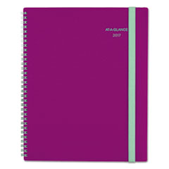 Color Play Weekly/Monthly Planner, 8 1/2 x 11, Purple/Teal, 2017