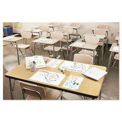 Dry Erase Surface with Adhesive Backing, 15 x 11, White, 15/Pack