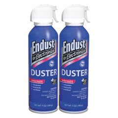 Compressed Air Duster, 7 oz, 2/Pk