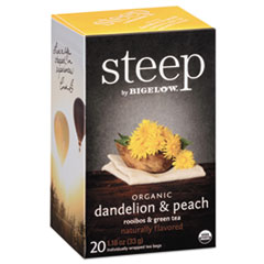steep Tea, Dandelion & Peach, 1.18 oz Tea Bag, 20/Box