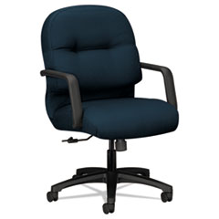 2090 Pillow-Soft Series Managerial Mid-Back Swivel/Tilt Chair, Mariner/Black