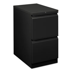 Flagship Mobile File/File Pedestal, Full Radius Pull, 22-7/8d, Black