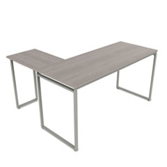 Seven Series L-Shaped Desk, 60 x 60 x 29 1/2, Ash