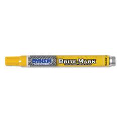 BRITE-MARK Paint Marker, Bullet Medium Tip, Yellow