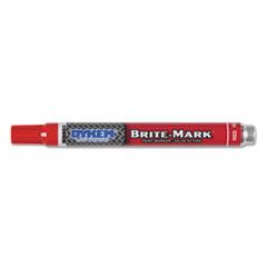 BRITE-MARK Paint Marker, Bullet Medium Tip, Red