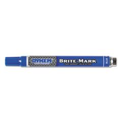 BRITE-MARK Paint Marker, Bullet Medium Tip, Blue