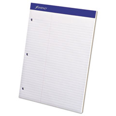 Double Sheets Pad, Law Rule, 8 1/2 x 11 3/4, White, 100 Sheets