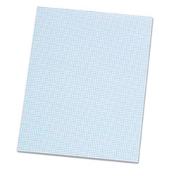 Quadrille Pads, 8 Squares/Inch, 8 1/2 x 11, White, 50 Sheets