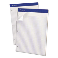 Double Sheets Pad, Narrow Rule, 8 1/2 x 11 3/4, White, 100 Sheets