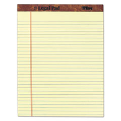 """The Legal Pad"" Ruled Perforated Pads, 8 1/2 x 11 3/4, Green Tint, 50 Sheets"