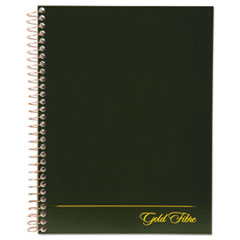 Gold Fibre Wirebound Writing Pad w/Cover, 9 1/4 x 7 1/4, White, Green Cover