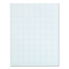 Cross Section Pads w/10 Squares, 8 1/2 x 11, White, 50 Sheets