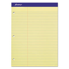Double Sheets Pad, Law Rule, 8 1/2 x 11 3/4, Canary, 100 Sheets