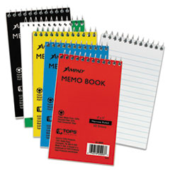 Wirebound Pocket Memo Book, Narrow, 5 x 3, White, 50 Sheets
