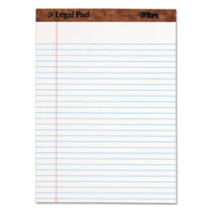 """The Legal Pad"" Ruled Perforated Pads, 8 1/2 x 11 3/4, White, 50 Sheets, Dozen"