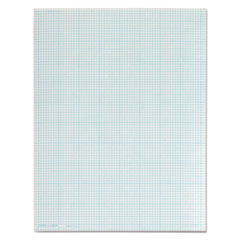 Cross Section Pads, 8 Squares, 8 1/2 x 11, White, 50 Sheets