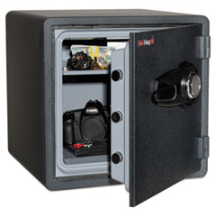 One Hour Fire and Water Safe with Combo Lock, 1.23 cu. ft., Graphite