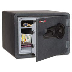 One Hour Fire and Water Safe w/Biometric Fingerprint Lock, 0.85 cu. ft, Graphite