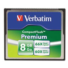 Premium CompactFlash Memory Card, 8GB, 66X Read Speed/60X Write Speed