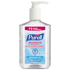 Advanced Instant Hand Sanitizer, 8oz Pump Bottle, 12/Carton