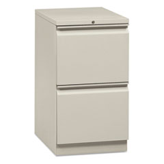 "Flagship Mobile File/File Pedestal with ""R"" Pulls, 15w x 16 7/8d, Light Gray"