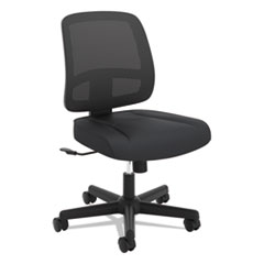 VL205 Armless Mesh Back Task Chair, Black