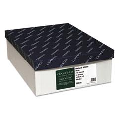 Cranes Crest 100% Cotton Envelope, #10, 4 1/8 x 9 1/2, Natural White, 500/Box
