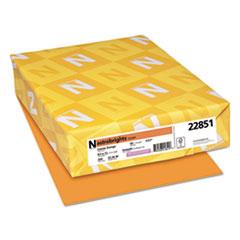 Color Cardstock, 65lb, 8 1/2 x 11, Cosmic Orange, 250 Sheets