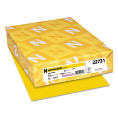 Color Cardstock, 65lb, 8 1/2 x 11, Solar Yellow, 250 Sheets