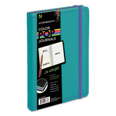 Astrobrights Journal, Ruled, 8 1/4 x 5 1/8, Teal, 240 Sheets